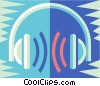 head phones Vector Clip Art picture