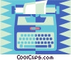 Vector Clipart image  of a typewriter