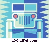Vector Clip Art picture  of a jeep