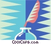 feather pen and ink well Vector Clipart picture