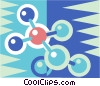 Vector Clipart graphic  of a molecule