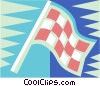 Vector Clip Art image  of a checkered flags