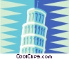 leaning tower of Pisa Vector Clipart illustration