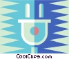 Vector Clipart picture  of a plug