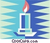 Vector Clipart graphic  of a candle light
