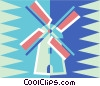 Vector Clipart image  of a windmill