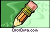 pencil with eraser Vector Clipart graphic