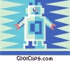 Vector Clipart graphic  of a toy robot