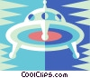 flying saucer Vector Clipart illustration