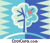 Vector Clip Art graphic  of an apple tree