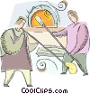Vector Clipart graphic  of a glass blowers