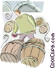Vector Clip Art image  of a wine maker
