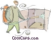 Vector Clip Art picture  of a exterminator