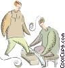 Vector Clipart graphic  of a shoe shine
