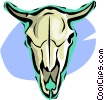 Vector Clipart graphic  of a cow skull