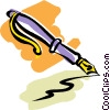 Vector Clip Art picture  of a fountain pen