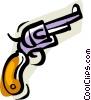 gun, revolver Vector Clipart picture
