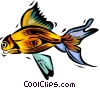 Vector Clip Art graphic  of a gold fish