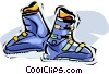 Vector Clipart image  of a ski boots