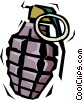 Vector Clip Art graphic  of a Hand grenade