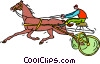Vector Clip Art image  of a Harness racing