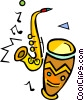 Vector Clipart image  of a musical instruments