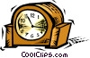 mantel clock Vector Clip Art picture