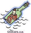 message in a bottle Vector Clipart picture