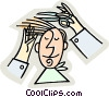 Vector Clip Art picture  of a hair cut