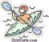 kayaker Vector Clipart picture