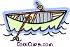 Vector Clip Art graphic  of a Rowboat