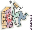 hitting your head against the wall Vector Clipart illustration