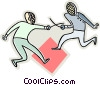 Vector Clip Art graphic  of a Fencers