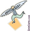 Vector Clipart graphic  of a man with wings