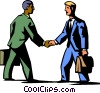 businessman shaking hands Vector Clip Art image