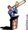 Vector Clip Art image  of a trombone player