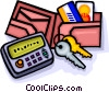 wallet, credit cards Vector Clipart picture
