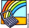laptop/notebook computer with a rainbow Vector Clipart image