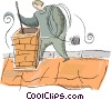 Vector Clipart image  of a chimney sweep