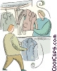 Vector Clipart picture  of a Dry Cleaners