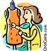 Vector Clipart picture  of a Seamstress