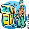 Gas station fill-up Vector Clip Art image