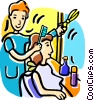 Vector Clip Art graphic  of a Hairdressers and Barbers
