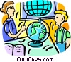 Vector Clip Art graphic  of a geography lesson