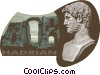 Vector Clip Art graphic  of a Hadrian 76 AD-