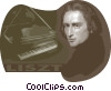Vector Clipart picture  of a Franz Liszt French Composer