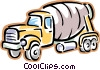 Vector Clipart illustration  of a cement truck