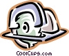 Vector Clip Art picture  of a power saw