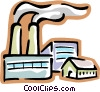 factory with smokestack Vector Clipart picture
