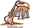 Vector Clipart image  of a backhoe
